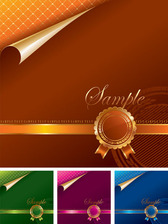 Free vector about vector template folding