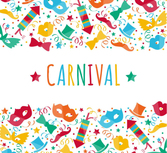 Carnival creative background color