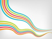 Colorful Wavy Vector Stripes Background