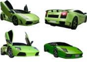 Green Lamborghini SET 1 PSD