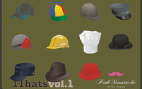 Free Vector Set: Hats and Caps