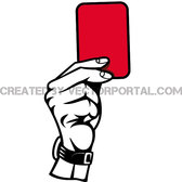 SHOWING RED CARD ILLUSTRATION.eps