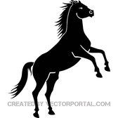 BLACK HORSE ON TWO LEGS VECTOR 2.eps