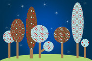 Colorful Pattern Vector Trees