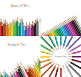 Colorful Drawing Pencils Vector Free