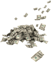 pile of blowing money PSD
