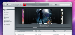 iTunes inspirierte Musik Player (PSD)