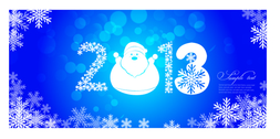 Christmas banner 2013 vector for free-2