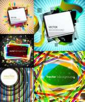 Gorgeous Bright Rectangle Graphics - Vector Gorgeous Rectangular Graphics