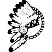 AMERICAN NATIVE FEATHER HEAD VECTOR.eps