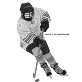 HOCKEY PLAYER VECTOR IMAGE.eps