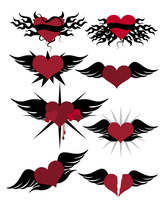 With A Heart-Shaped Vector Graphic Wings