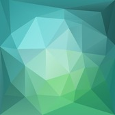 Abstract Green Blue Low Poly Background
