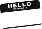 Name Badge PSD