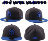 Navy/Royal Blue NY Fitted Cap PSD