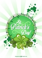 St Patrick's background illustration