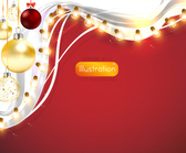 Ornamental Xmas Card with Light Decoration
